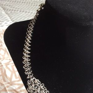 Jewelry - Ultra modern barbed wire rhinestone necklace -NWOT